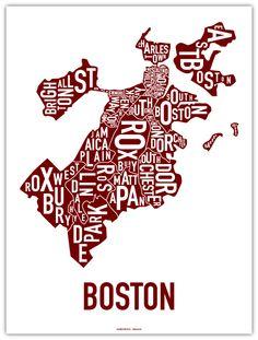 Boston neighborhood poster