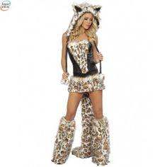 Frisky Leopard kostyme - Ustillingsmodell - XXL