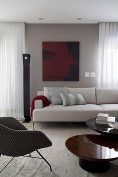 Tons neutros definem lar contemporâneo Pitadas de cor trazem estilo ao apartamento (Foto: Marco Antonio / divulgação)