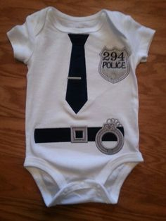 Police Officer Onesie applique
