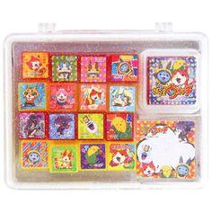 NEW! Yokai Watch Rubber Stamp Set Japan Jibanyan Komasan Yo-Kai Youkai F/S