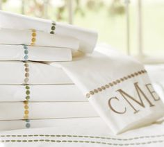 PB sheets and pillowcase: porcelain blue