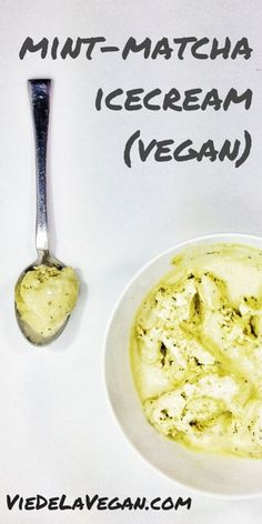 mint matcha icecream | mouth-watering, energising and creamy vegan icecream | vie de la vegan