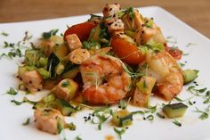 Wiki Fit | Пикантные креветки с лососем и овощами! И 356 ккал в 1 порции:-)