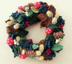 Ravelry: greenopaldream's Woodland Wreath