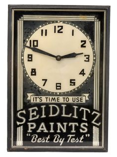 Advertising clock Advertising And Promotion, Advertising Ads, Vintage Advertisements, Rock Around The Clock, Mantle Shelf, Wedding Types, Somewhere In Time, Old Clocks, General Store