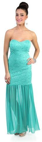 #Deb Shops                #Skirt                    #strapless #sequin #lace #long #prom #dress #with #mermaid #godet #hemline #skirt #debshops.com         strapless sequin lace long prom dress with mermaid godet hemline skirt - debshops.com                                             http://www.seapai.com/product.aspx?PID=1869762