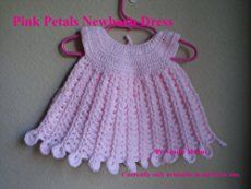 Crochet baby dresses in different designs, colors and patterns to suit babies in all ages beginning from newborn babies and