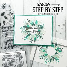 SWIPE for 6 easy steps to create this pretty card, with a masking technique, using our Wreath Turnabout stamps & Confetti Card dies! ❤❤❤…
