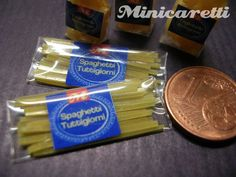 A tiny pack of miniature spaghetti noodles