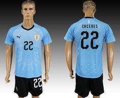 2018 Uruguay World Cup Home Jersey 2018 Uruguay World Cup Home Jersey  e1c94f169