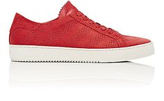 Off-White c/o Virgil Abloh Perforated Diagonal-Striped Sneakers - Sneakers - Barneys.com