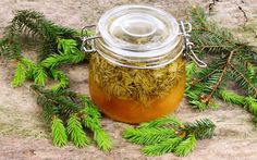 Homemade pine syrup is a great natural supplement that promotes overall good health. First step is to flavor the water that will be used to make the syrup Cough Remedies, Herbal Remedies, Home Remedies, Pesto Dip, Spruce Tips, Good Sources Of Calcium, Thing 1, Natural Supplements, Preserving Food