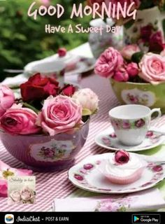 ideas for party ideas tea ana rosa Coffee Time, Tea Time, Pause Café, Good Morning Good Night, Morning Morning, Morning Board, Tuesday Morning, Morning Person, Sweetest Day