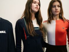 Sporty stripes and colour blocking dominates the vintage athletic uniform-inspired collection Lacoste AW16