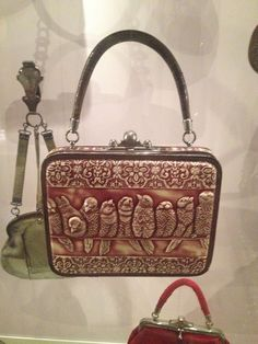 MUSEUM OF BAGS AND PURSES, AMSTERDAM  Leather handbag with cover-sheet of tortoise-shell