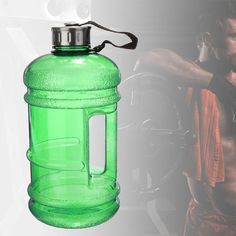 Portable 2.2L BPA Free Plastic Big Large Capacity Sports Water Bottle Outdoor Picnic Bicycle Camping Cycling Kettle Green