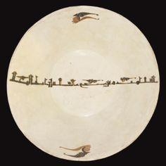 A fine Nishapur or Samarqand Calligraphic Dish, Eastern Persia or Transoxiana, century - Sotheby's Arabic Calligraphy Art, Arabic Art, Islamic Tiles, Islamic Art, Pottery Bowls, Pottery Art, Antique Plates, Ceramic Plates, Islamic Paintings