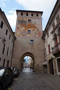 Bassano del Grappa - Porta Dieda is located at what was the Lower Castle said of Berri, built in 1315 by the Paduan to protect new villages built outside the walls