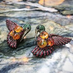 Fire Opal  earrings from @lydiacourteille @AnnoushkajewelleryGuests