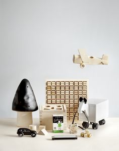 black, white, wood for kids