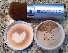 Did you know Rodan + Fields carries a mineral peptide powder along with the softest makeup brush on the planet? This is what I wear daily. I order the Medium powder and it contains SPF 20 so I'm covered -> It contains peptides so I'm also combatting the signs of aging! No need for heavy foundation any more! Go ahead...breakup with your foundation...try a regimen...walk out the door with just the powder.  https://bobbyandlisa.myrandf.com/Shop/Enhancements