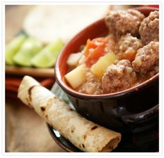 Albóndigas Soup - Albóndigas … doesn't it sound majestic? What is an albóndiga? Albóndigas originated in Spain and means a spicy tomato meatball soup. In my book albóndiga soup is the ultimate comfort food.  by Hispanic Kitchen