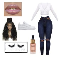 """Untitled #20"" by dessiesanchez on Polyvore featuring WithChic, Eloise, Huda Beauty and NIKE"