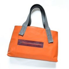 Leather Shoulder Bag / Leather Tote / by LolafalkLeathergoods