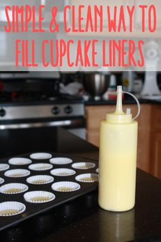Clean and Quick Way to Fill Cupcake Liners