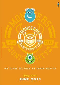 Pixar Corner: Monsters University Fan Art!