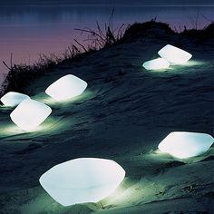 Oluce Stones Outdoor Floor Lamp