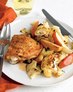 Chicken with Cauliflower and Apples - Martha Stewart Recipes
