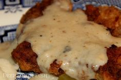 Deep South Dish: Chicken Fried Steak with Southern Style Peppered Milk Gravy