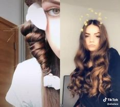 Pin on Hair inspiration Pin on Hair inspiration Curly Hair Tips, Easy Hairstyles For Long Hair, Curly Hair Styles, Natural Hair Styles, Colored Hair Tips, Hair Upstyles, Baddie Hairstyles, Heatless Hairstyles, Heatless Curls