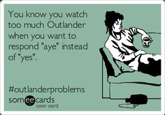 The best Outlander Memes and Ecards. See our huge collection of Outlander Memes and Quotes, and share them with your friends and family. Outlander Funny, Outlander Quotes, Outlander Tv Series, Outlander Novel, Funny Cards, E Cards, Book Series, Laugh Out Loud, Diana Gabaldon