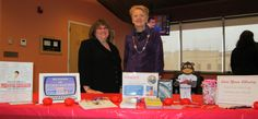 Robin and Barbara helping at the Bellevue University Stress-Less event, February 11, 2014.