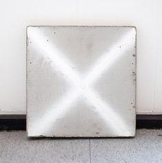 "Davina Semo [USA] (b 1981) ~ ""X Marks The Rot"", 2011. Spray paint transfer on reinforced concrete (40.6 x 40.6 cm). | #art #painting #sculpture #conceptualart #installation #minimalart"