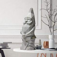 Design Shop, Low Poly, Kitsch, Decoration, Art Decor, Scandinavian Fabric, Minimalist Garden, Room Screen, Gnome Garden