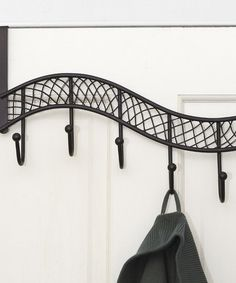 Take a look at this Bronze Over-Door Hook Rack by Bathroom Essentials Collection on @zulily today!