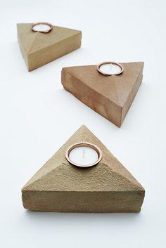 Lane Sand Cast Brick Tea Light Holder