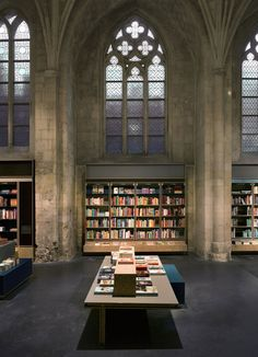 Selexyz Dominicanen Bookstore, Maastricht, the Netherlands - a 13th century church converted into an impressive bookstore.