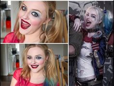 NEW!! Harley Quinn ♡ Suicide Squad ♡ Halloween Makeup Tutorial || LulaBe...