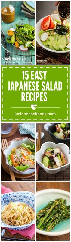 Colorful and tasty salads can enhance your meal and make your dinner table setting look more appetizing, here are 15 popular Japanese salad recipes.