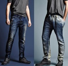 (07) Jogg Jeans Denim Fit, Wash & Style - Diesel 2013-2014 Fall Winter Preview Mens Collection: Designer Denim Jeans Fashion: Season Collections, Runways, Lookbooks and Linesheets