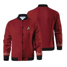 Star Trek The Original Series Jacket Source by fandom Star Trek Clothing, Trek Deck, Stark Trek, Star Trek Original, Famous Celebrities, Adidas Jacket, Zip Ups, Rain Jacket, Windbreaker