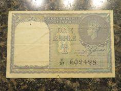 1 RUPEE BANKNOTE FROM BRITISH INDIA 1940  X 91  602428
