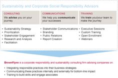 #CSR and #Sustainability Consulting - Corporate Social Responsibility