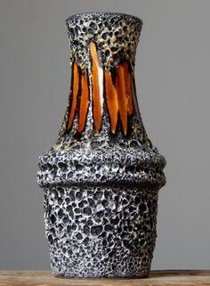 Vintage 60-70' SCHEURICH 209-18 Lora Fat Lava Vase West German Pottery Art Craft in 1960s/ 1970s   eBay
