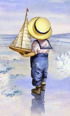 68 Ideas Children Learning Illustration For Kids Art Painting, Vintage Art, Illustration, Drawings, Watercolor Paintings, Painting, Oil Painting, Beach Art, Canvas Painting